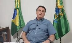 O presidente Jair Bolsonaro em sua live semanal Foto: reprodução/Redes Sociais