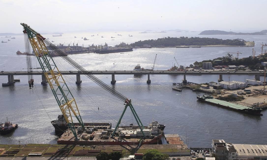 Vocação naval. Entrada do Canal de São Lourenço: edital para contratar projeto de dragagem será lançado este mês Foto: Divulgação/Douglas Macedo