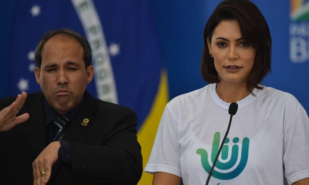 Michelle Bolsonaro comanda Pátria Voluntária Foto: Marcelo Casal Jr./Agência Brasil