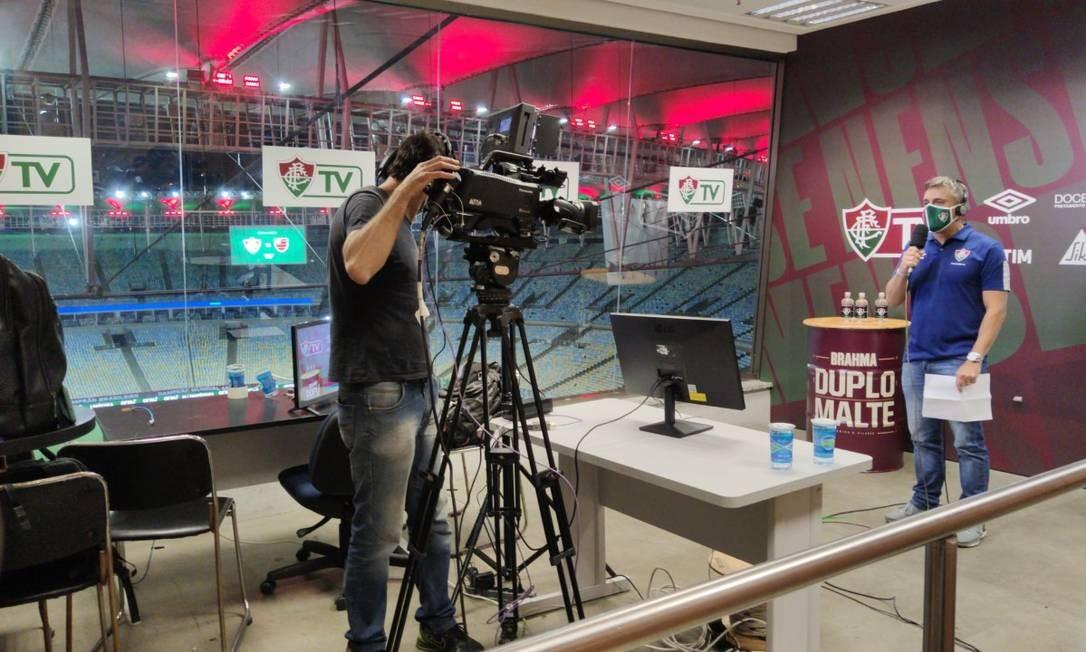 Após polêmica em torno do estilo da narração, Flu promete narrar jogadas do rival Foto: Divulgação/Fluminense