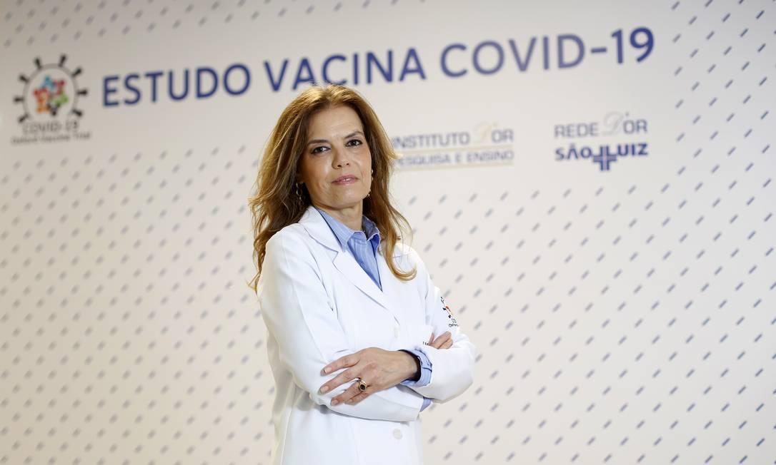 A cientista Sue Ann Costa Clemens é a chefe dos estudos da vacina de Oxford no Brasil Foto: Fabio Rossi / Agência O Globo