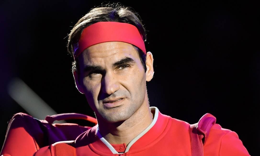 O tenista Roger Federer é garoto-propaganda e um dos donos da fabricantes de calçados esportivos suíça ON: empresa planeja abrir capital Foto: Fabrice Coffrini / AFP