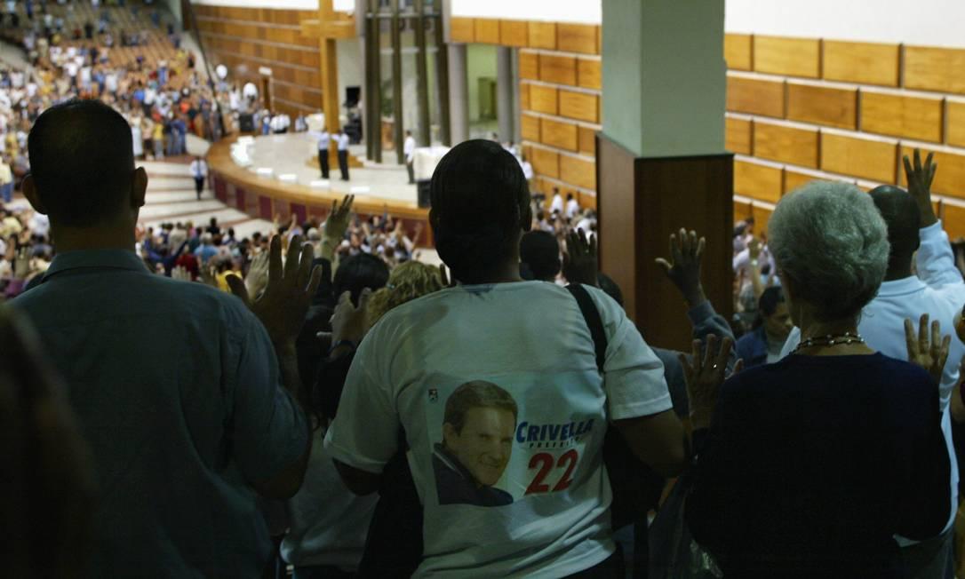 Influência. Atuação das igrejas no período eleitoral está no centro do debate do TSE, que pode criar nova figura jurídica já válida para o pleito deste ano Foto: Mônica Imbuzeiro