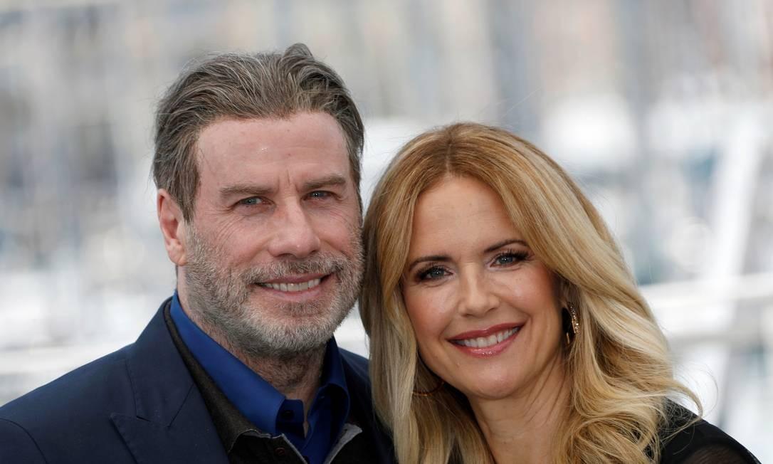 John Travolta e Kelly Preston no Festival de Cannes, em 2018 Foto: Eric Gaillard / REUTERS