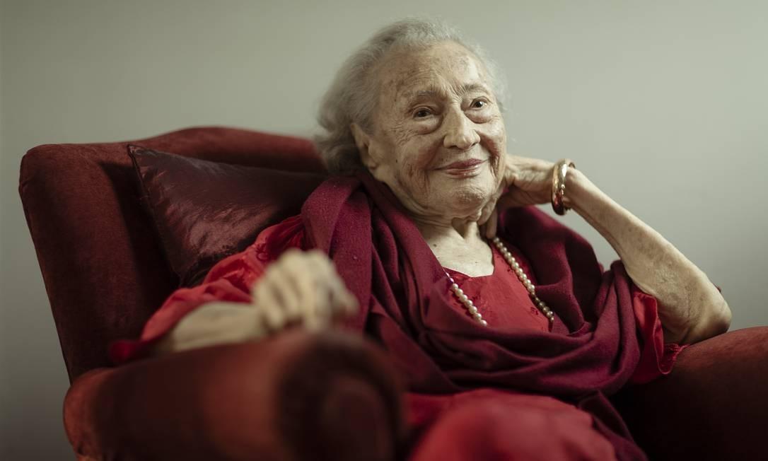Lygia Martins Costa, 105 anos, primeira museóloga do Patrimônio Cultural do Brasil Foto: Leo Martins