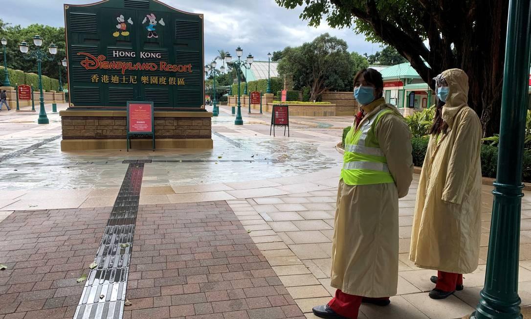 O parque Disneyland em Hong Kong será fechado novamente nesta quarta-feira, dia 15 Foto: James Pomfret / REUTERS