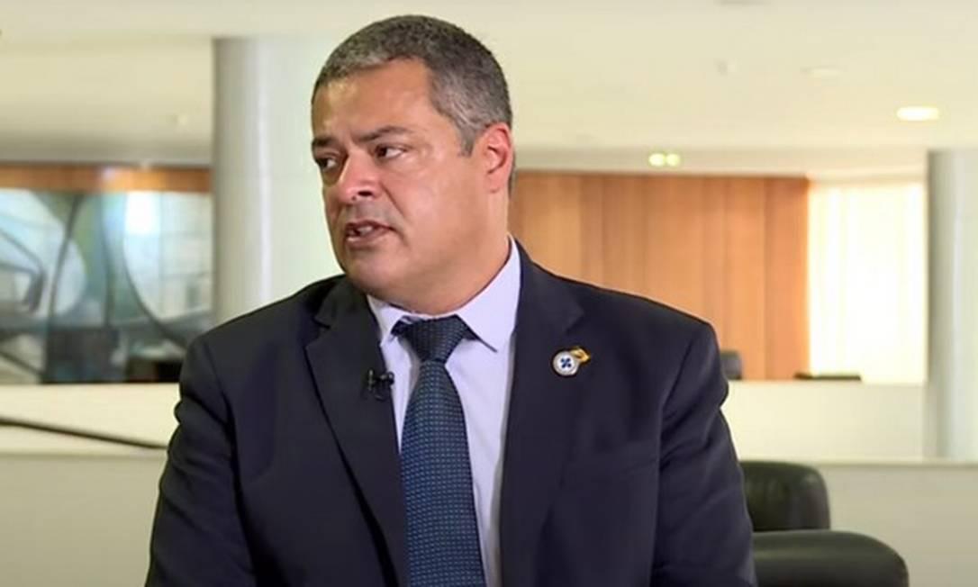 Secretário especial de Saúde Indígena do Ministério da Saúde, Robson Santos da Silva Foto: TV Brasil/Reprodução