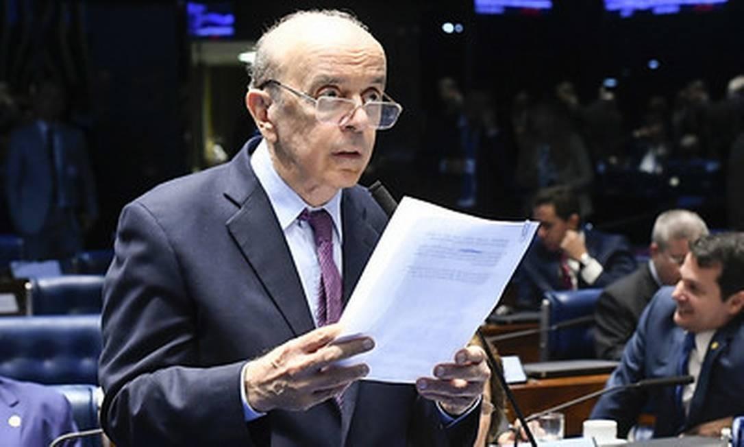 O senador José Serra (PSDB-SP), alvo de operação da PF Foto: Marcos Oliveira/Agência Senado