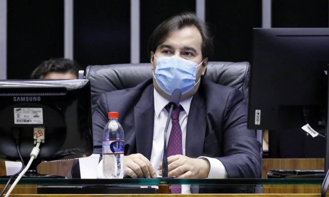 O presidente da Câmara, Rodrigo Maia: 'Não queremos aprovar a reforma da Câmara, queremos aprovar a reforma do Congresso Nacional junto com o governo federal' Foto: Agência Câmara