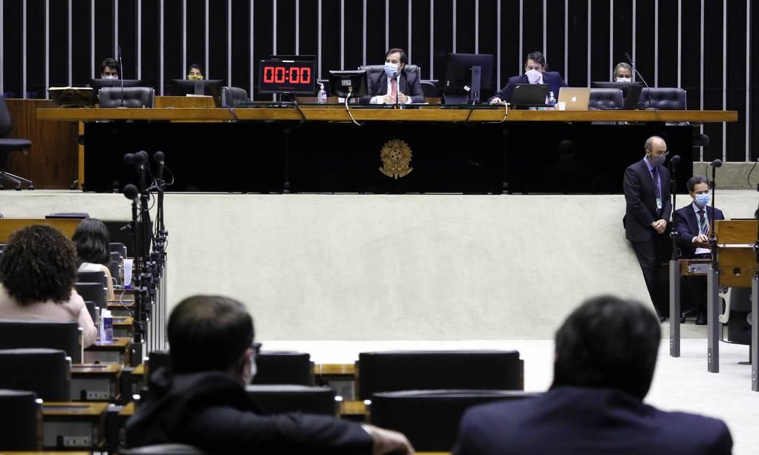 Plenário da Câmara dos Deputados durante a pandemia Foto: Maryanna Oliveira/Agência Câmara