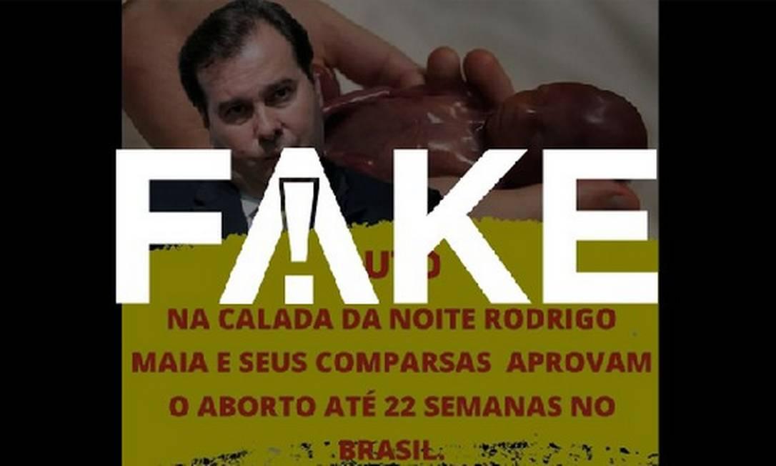 É #FAKE que Câmara aprovou aborto até 22 semanas no Brasil Foto: Reprodução