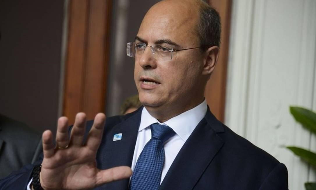 O governador Wilson Witzel Foto: Tânia Rego / Agência Brasil