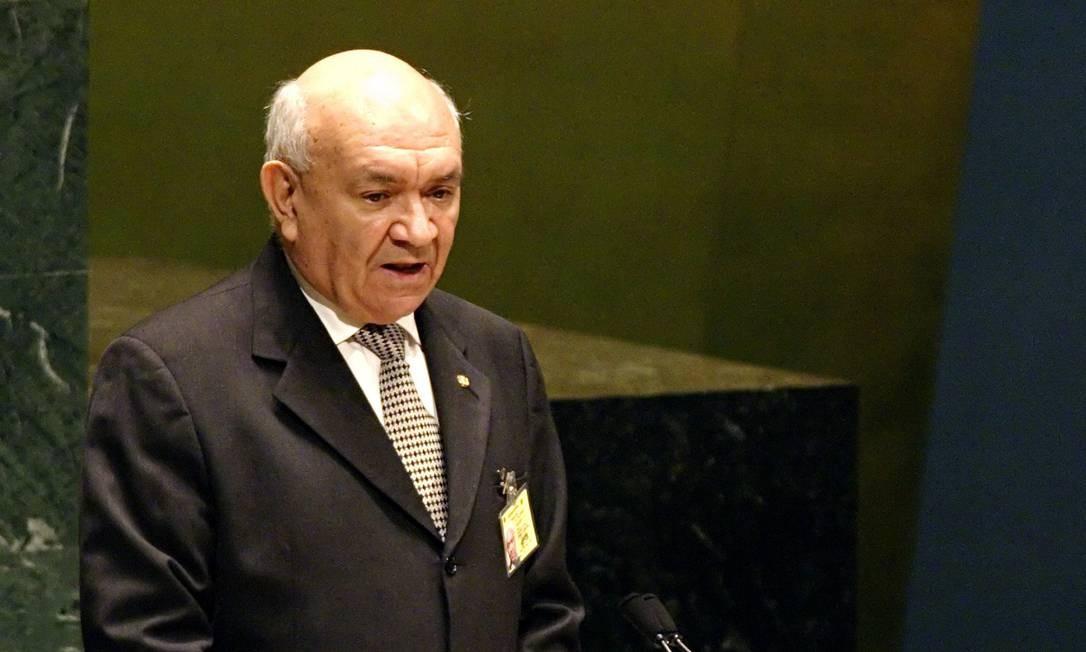 O ex-presidente da Câmara dos Deputados, Severino Cavalcanti, discursa na Conferência Mundial de Oradores das Nações Unidas em Nova Iorque, sexta-feira, 9 de setembro de 2005 Foto: Adam Rountree / Arquivo - 09/07/2005