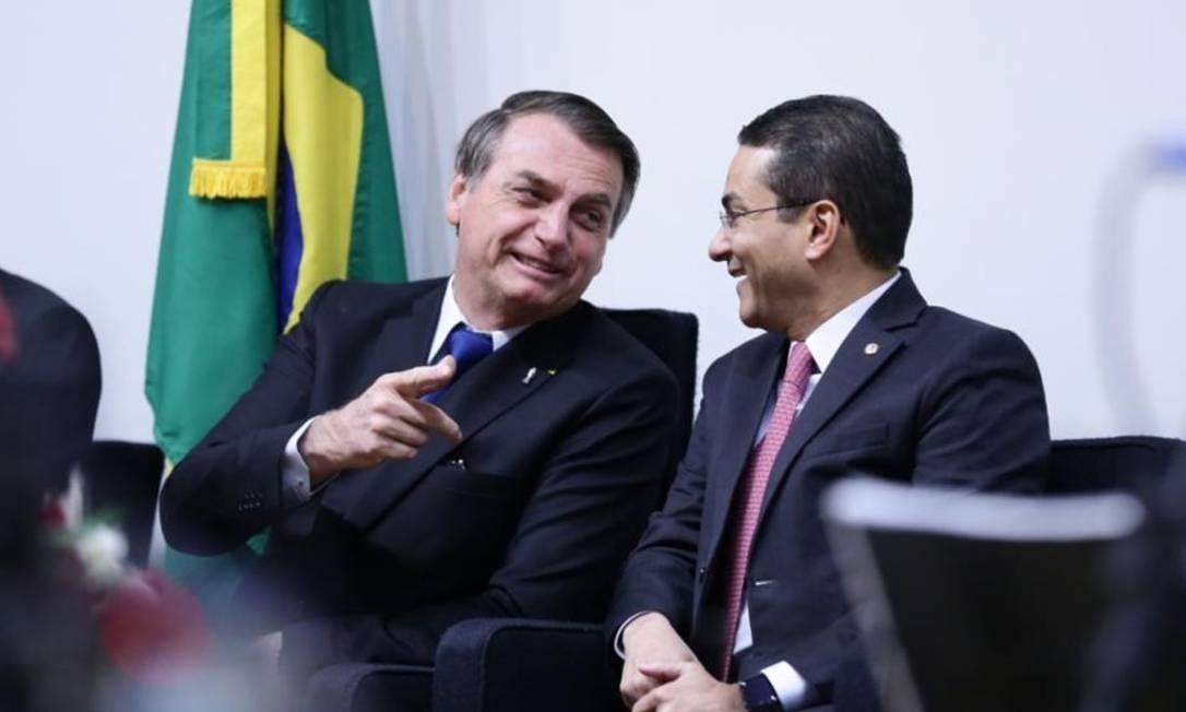 O presidente Jair Bolsonaro e o deputado Marcos Pereira Foto: Michel Jesus / Divulgação/ Câmara dos Deputados