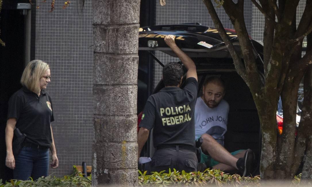 Walter Delgatti Neto, ao ser preso pela Operação Spoofing em julho de 2019 Foto: Daniel Marenco/Agência O Globo