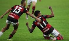 Vitinho marcou, nos acréscimos, o gol da vitória sobre o Fluminense Foto: RICARDO MORAES/ REUTERS