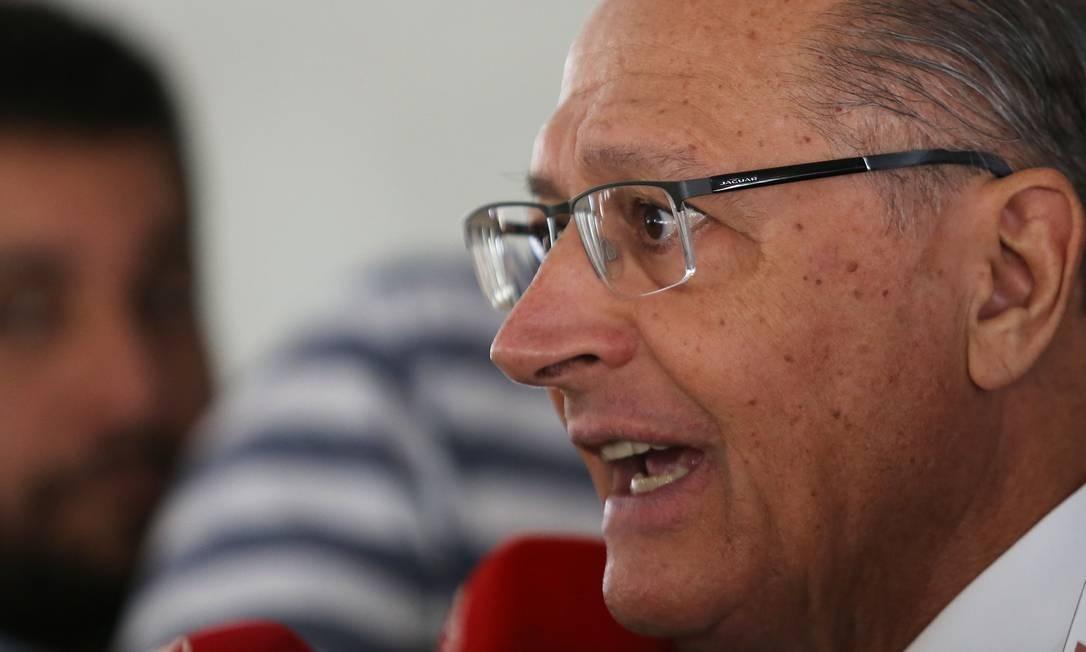 Geraldo Alckmin, presidente nacional do PSDB e ex-governador de São Paulo. Foto: Jorge William / Agência O Globo Foto: Jorge William / Agência O Globo