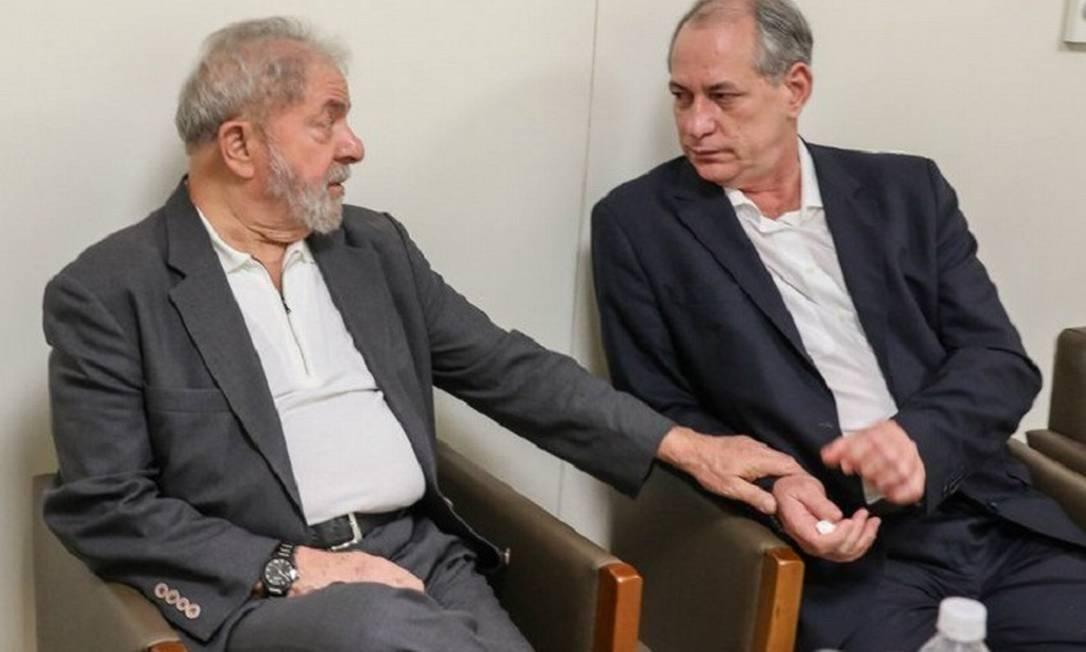 Lula recebe a visita do governador do Ceará Camilo Santana e de Ciro Gomes no Hopsital Sírio Libanês em São Paulo Foto: Ricardo Stuckert/Instituto Lula