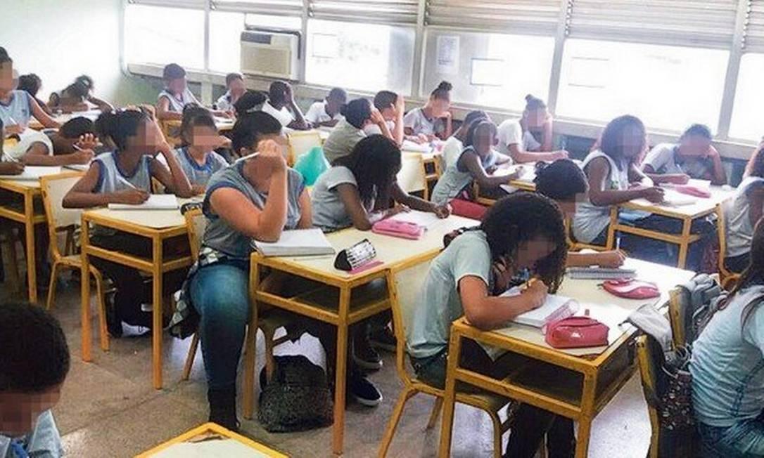 Escola estadual em Belford Roxo, no Rio de Janeiro Foto: Foto de leitor