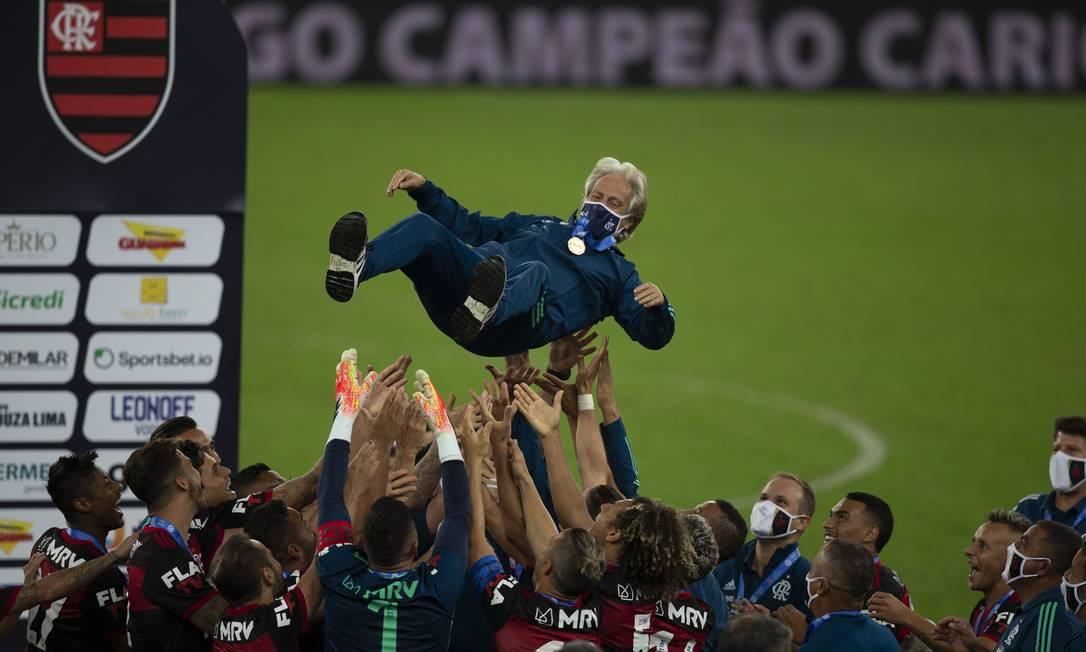 Jorge Jesus deixa o Flamengo após cinco títulos conquistados Foto: Alexandre Cassiano