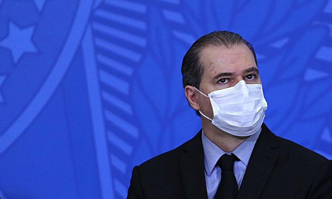 O presidente do STF, ministro Dias Toffoli, durante evento no Palácio do Planalto Foto: Jorge William/Agência O Globo/17-06-2020