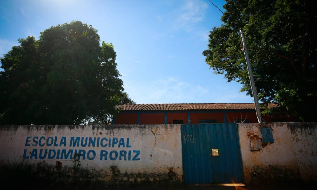 Escola Municipal Laudimiro Roriz, em Luiziânia, Goiás Foto: Pablo Jacob / Agência O Globo