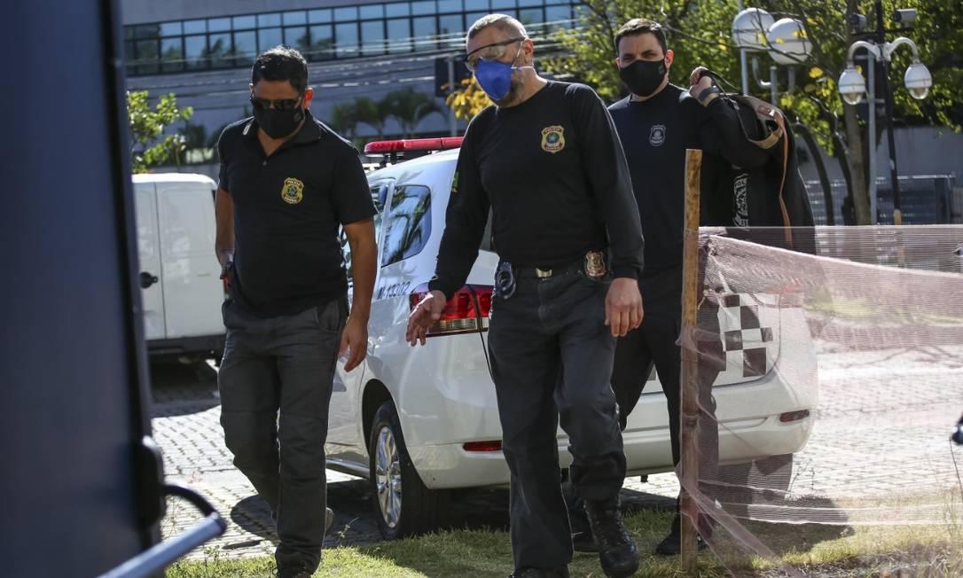 A PF deflagrou na manhã desta terçã-feira a operação Paralelo 23, a terceira fase da Lava Jato junto à Justiça Eleitoral de São Paulo que investiga as campanhas de Serra Foto: Newton Menezes/Futura Press