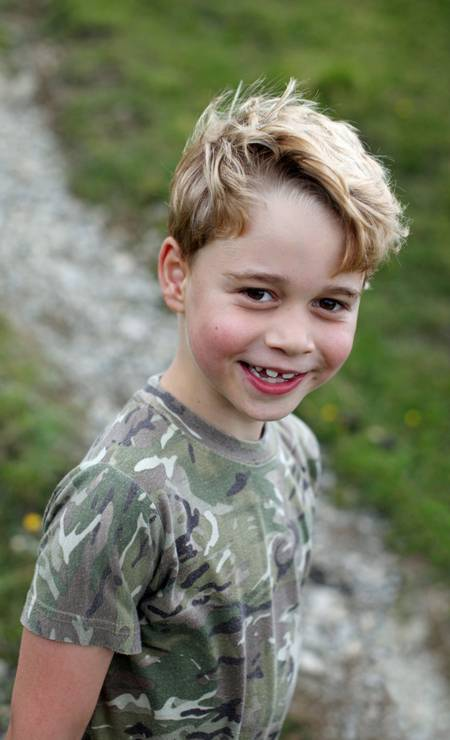 Mas já? Sim! Príncipe George, o primogênito de William e Kate Middleton já está com 7 anos, completados neste dia 22 de julho de 2020 Foto: The Duchess of Cambridge / via REUTERS