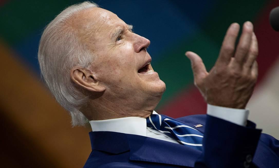 Joe Biden, ex-vice-presidente dos EUA, abre 8 pontos de vantagem sobre Trump Foto: BRENDAN SMIALOWSKI / AFP