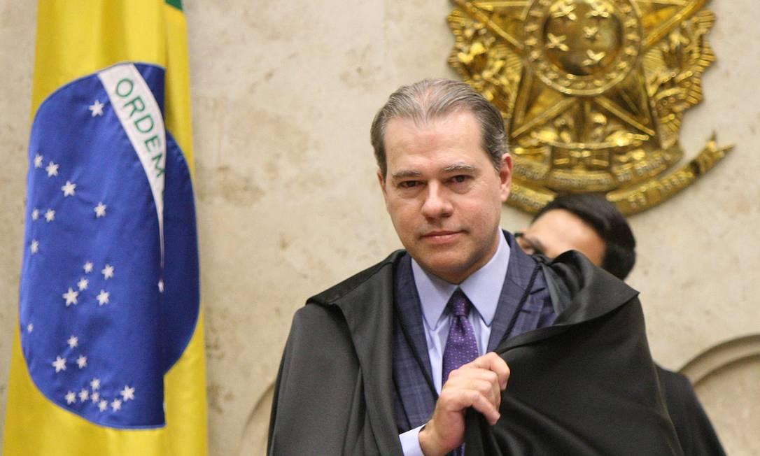 Ministro Dias Toffoli durante balanço das atividades do STF Foto: Rosinei Coutinho / SCO/ STF Foto: Agência O Globo