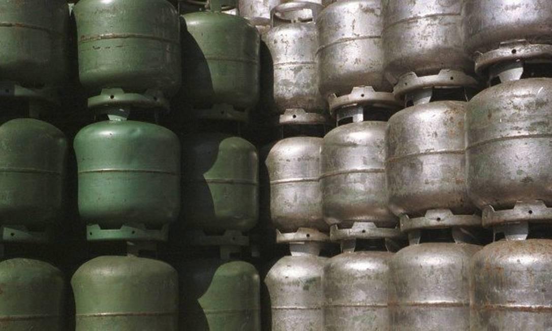 Botijões de gás: mais um aumento do GLP no ano. Foto: Arquivo