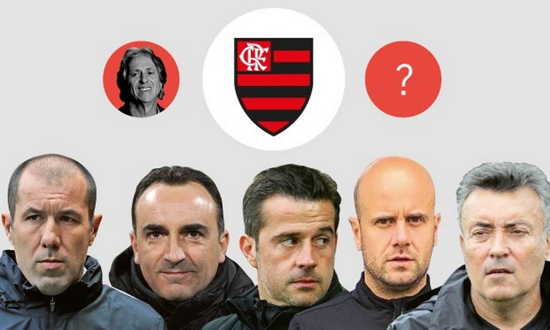 Técnicos europeus estão na mira do Flamengo Foto: Arte O Globo