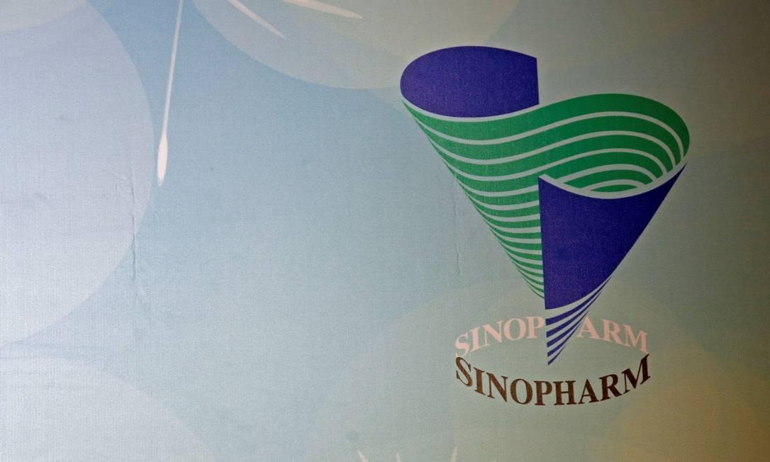 Logotipo do grupo Sinopharm em coletiva de imprensa em Hong Kong, na China, em foto de 2016 Foto: Bobby Yip / REUTERS