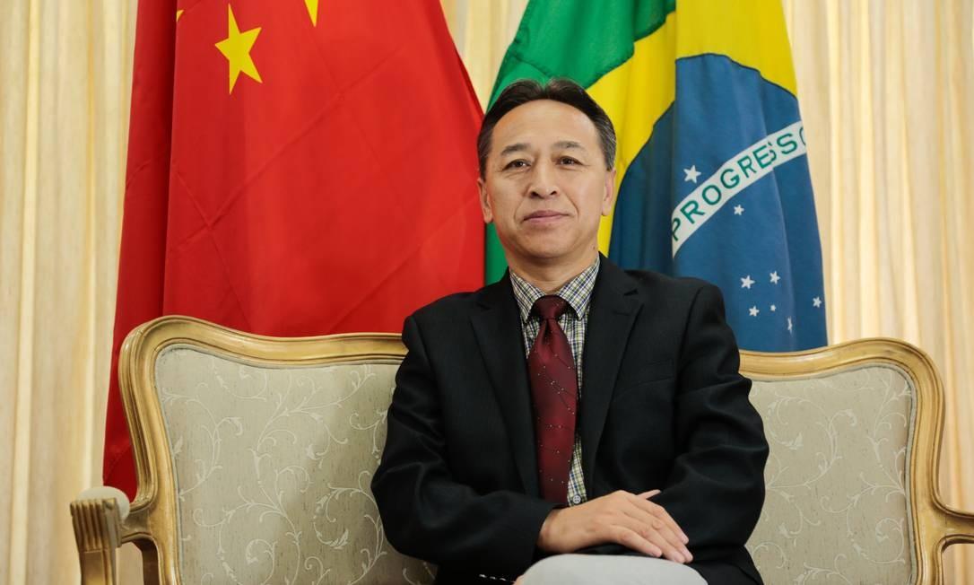 Cônsul-geral da China, Li Yang, em comemoração do Ano Novo Chinês, em 2018 Foto: Brenno Carvalho / Agência O Globo