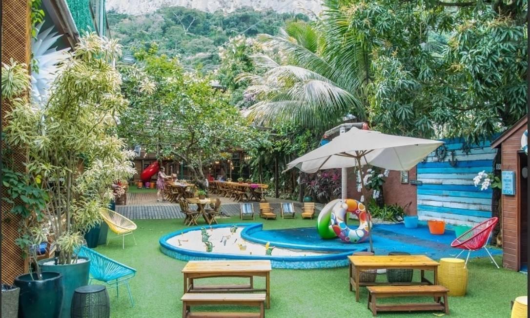 Área ao ar livre da Goiabeira Coisa e Tal. atrai quem quer fazer eventos infantis Foto: divulgação/roberta niemeyer