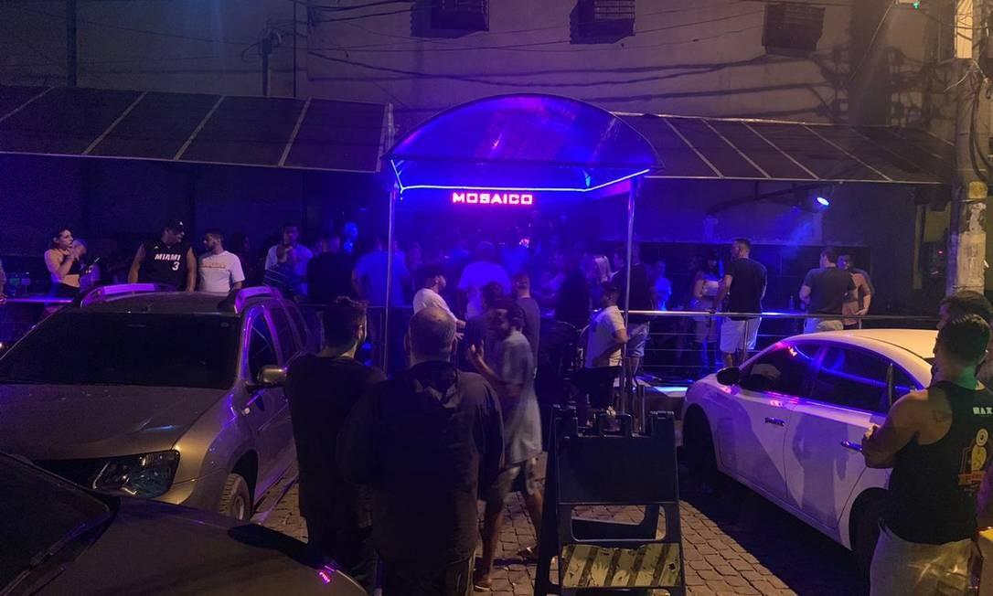 Mosaico Night Club reabre e promove aglomerações Foto: Reprodução/Redes sociais