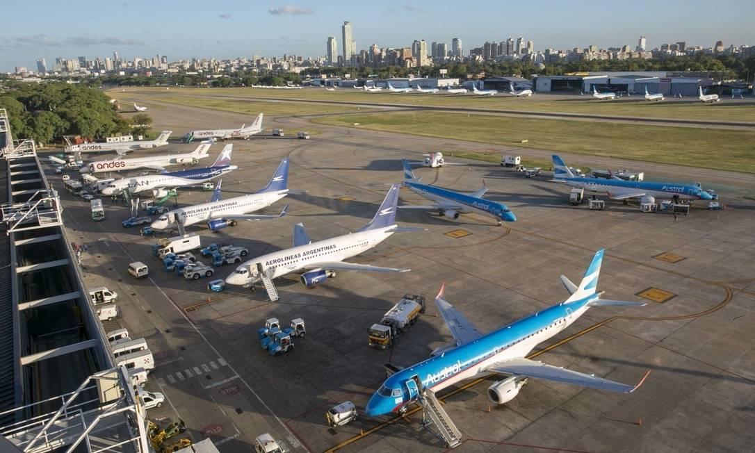 Aeroparque Jorge Newbery, na Argentina Foto: Reprodução