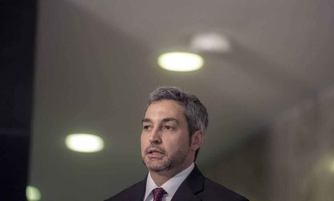 Presidente do Paraguai, Mario Abdo Benítez Foto: Daniel Marenco / Agência O Globo