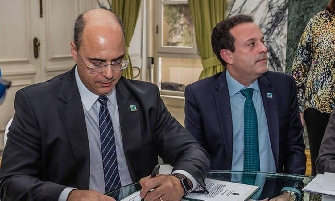 Wilson Witzel e André Moura Foto: Divulgação