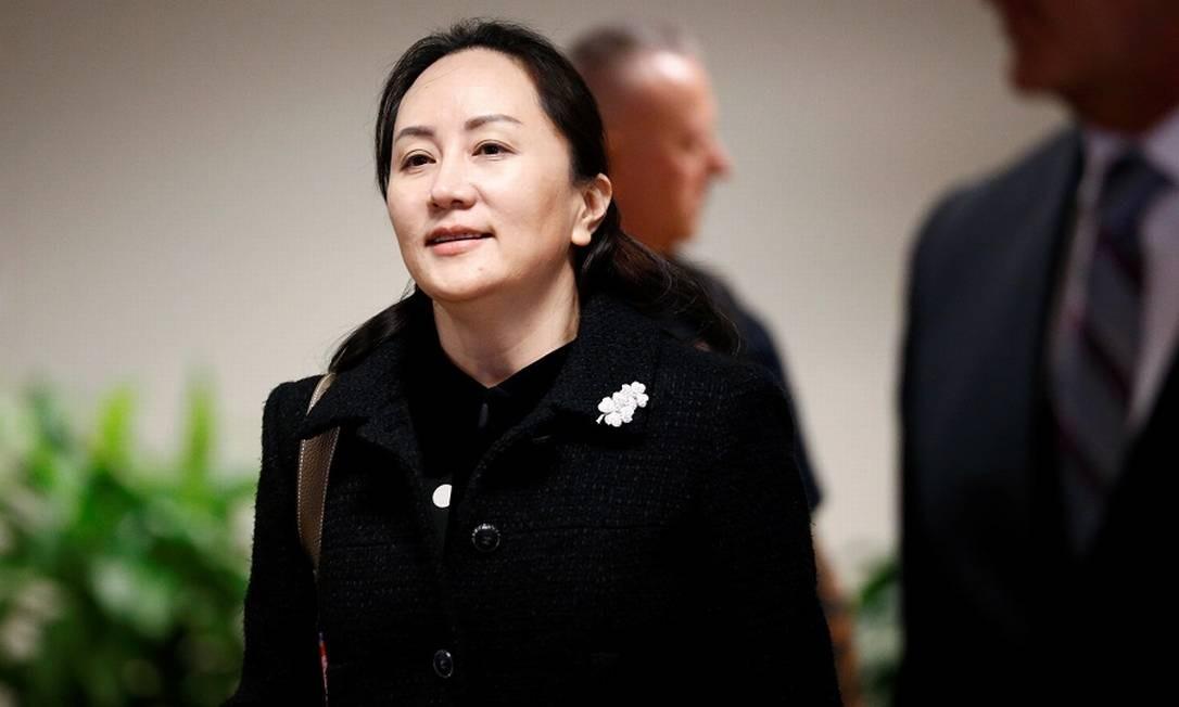 Meng Wanzhou, diretora financeira da Huawei: acusação ao governo de Donald Trump. Foto: LINDSEY WASSON / Reuters