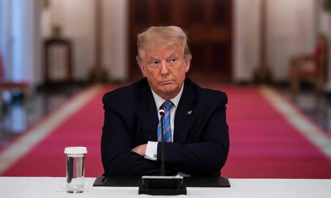 Donald Trump, presidente dos EUA Foto: Jim Watson / AFP