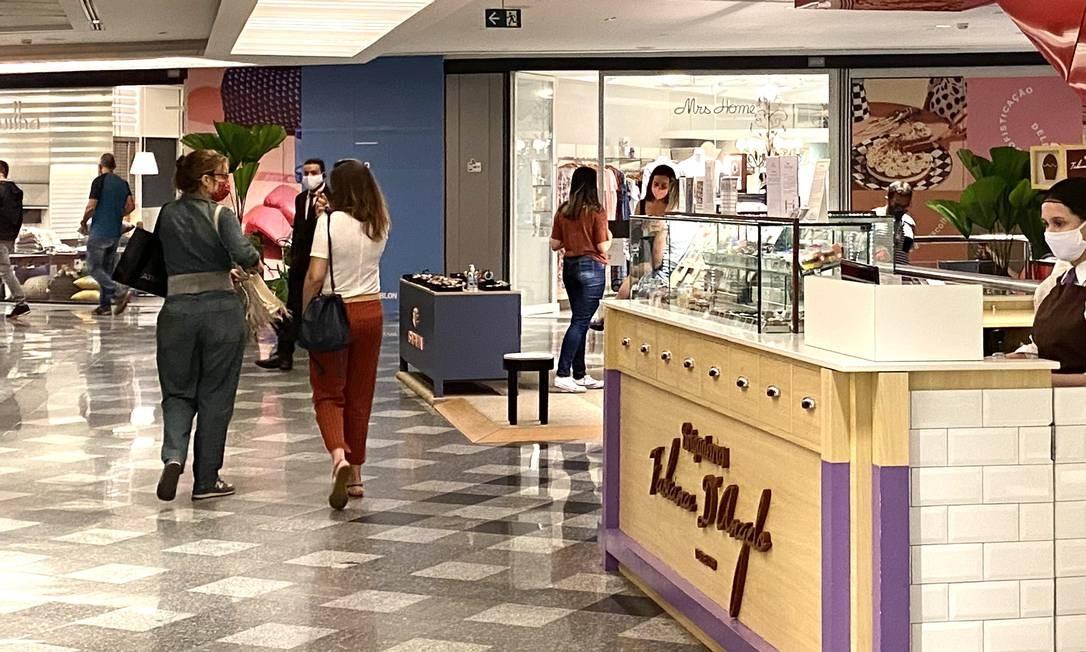 Rio Design Leblon. Clientes voltam a circular pelos corredores Foto: Divulgação