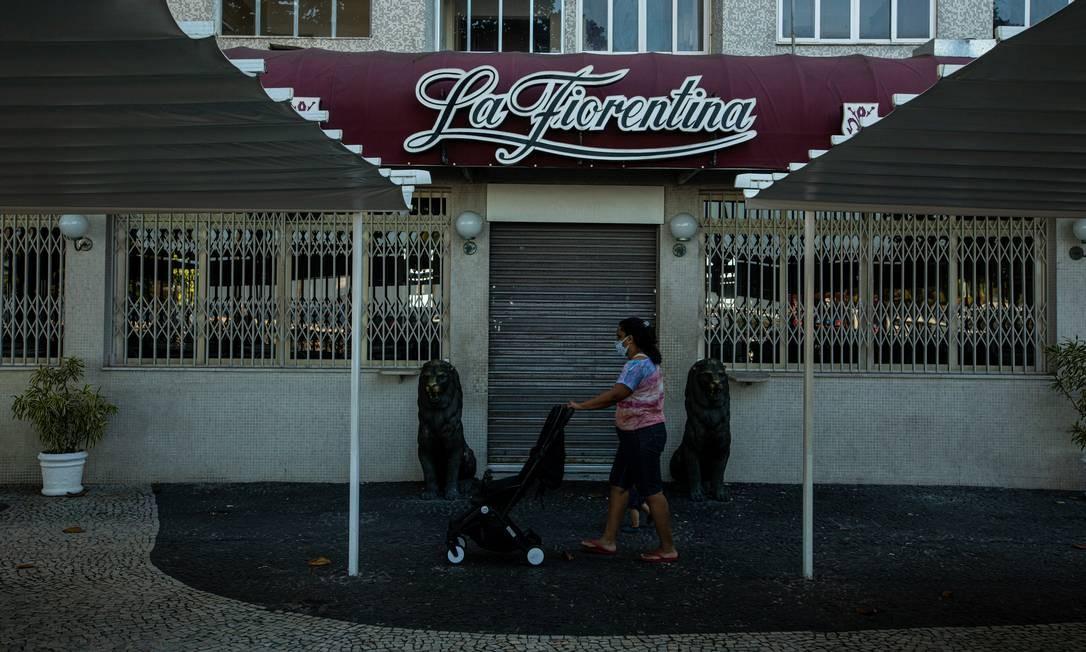 O bar e restaurante La Fiorentina, no Leme. Um dos ícones do Rio, casa tem destino indefinido Foto: Brenno Carvalho / Agência O Globo