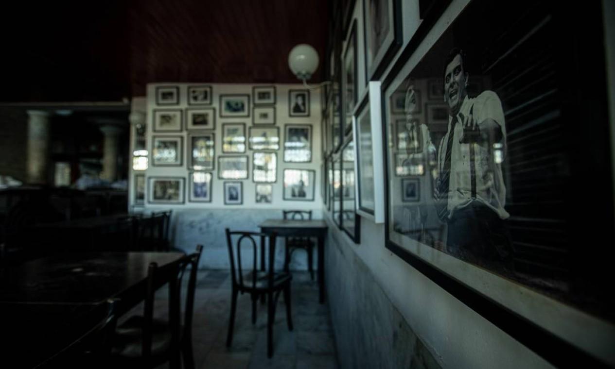 O La Fiorentina continua de portas fechadas, apesar da prefeitura já ter autorizado bares e restaurantes a voltarem às atividades Foto: Brenno Carvalho / Agência O Globo