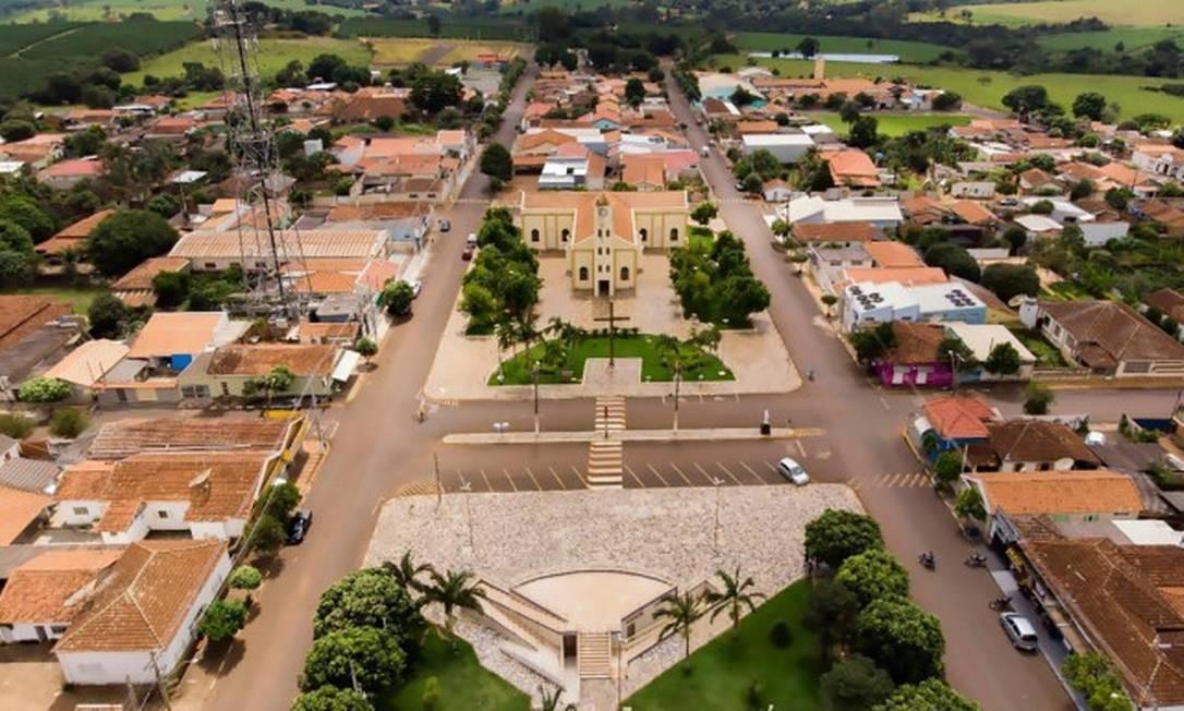 Vista aérea da Cidade de Ribeirão Corrente, no interior de São Paulo. Foto: Ascom / Prefeitura de Ribeirão Corrente Foto: Agência O Globo