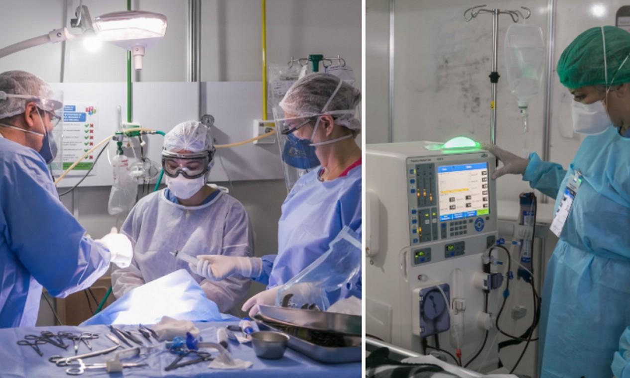 A equipe multidisciplinar de mil pessoas tem profissionais como médicos, enfermeiros, técnicos de enfermagem, fisioterapeutas e assistentes sociais Foto: Marco Sobral / G.LAB
