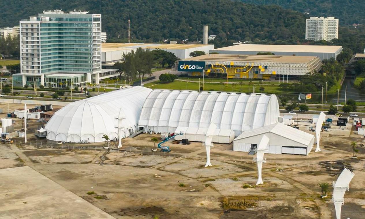 Todos os atendidos nos hospitais de campanha privados do Rio, como o Parque dos Atletas, são encaminhados pela Secretaria Estadual de Saúde. Foto: Divulgação