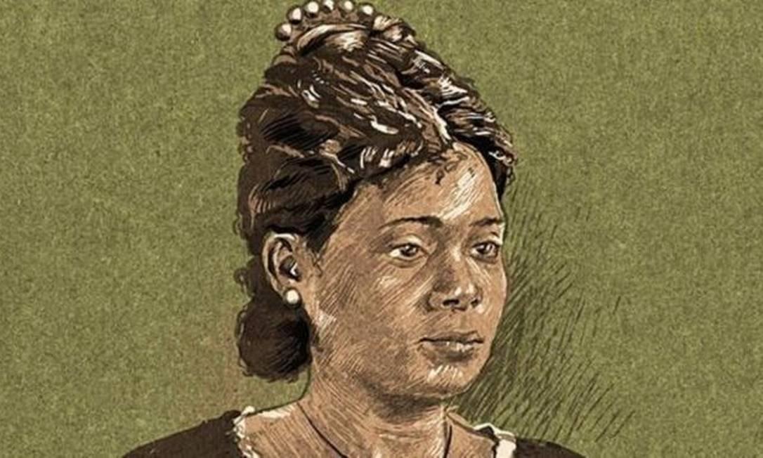 """Como se imagina que seja Maria Firmina dos Reis, autora de """"Úrsula"""" (1859), hoje considerado o primeiro romance afro-brasileiro, pioneiro da literatura antiescravista no país Foto: ANDRÉ VALENTE/BBC"""