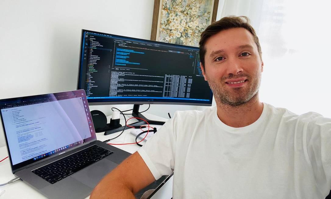 O arquiteto de automação de rede Renê Sobral mudou de emprego na pandemia em um processo seletivo todo virtual Foto: Arquivo Pessoal