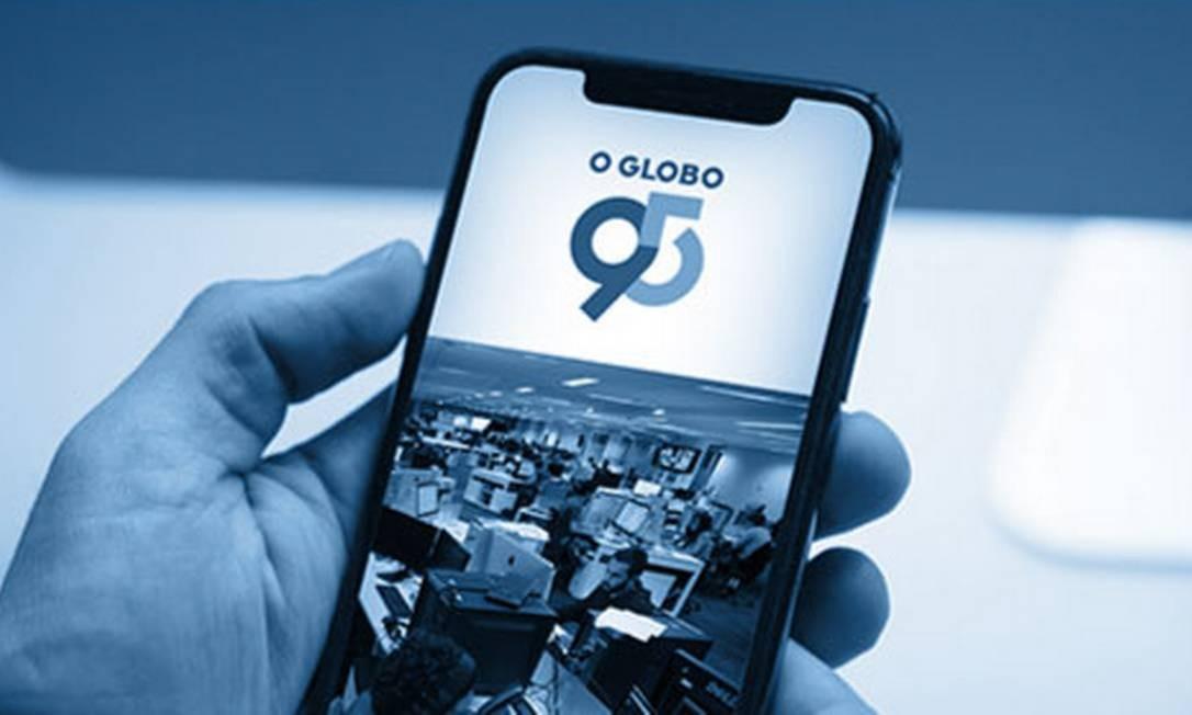 O GLOBO comemora 95 anos em meio a um grande processo de transformação digital: mudança radical no consumo de notícias Foto: Arte / O GLOBO
